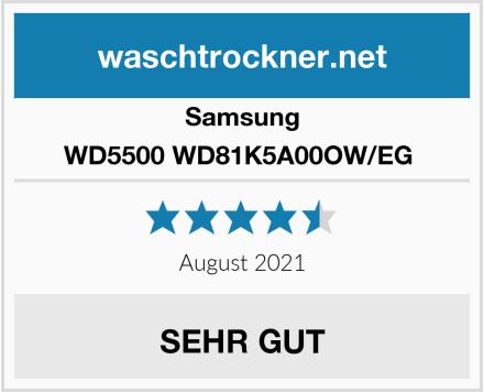 Samsung WD5500 WD81K5A00OW/EG  Test