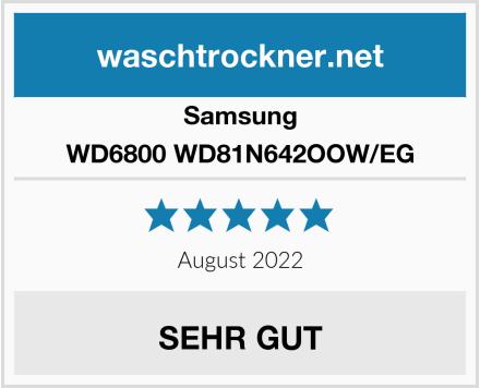 Samsung WD6800 WD81N642OOW/EG Test