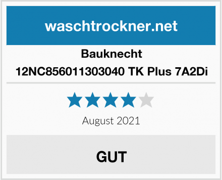 Bauknecht 12NC856011303040 TK Plus 7A2Di Test