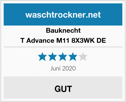Bauknecht T Advance M11 8X3WK DE Test