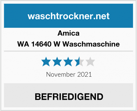 Amica WA 14640 W Waschmaschine Test
