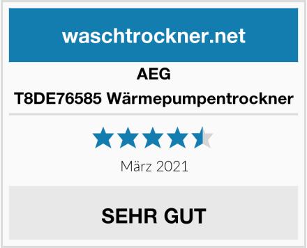 AEG T8DE76585 Wärmepumpentrockner Test