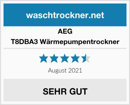 AEG T8DBA3 Wärmepumpentrockner Test