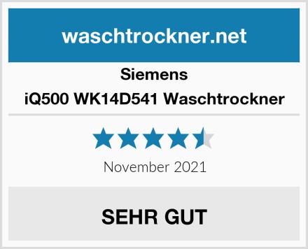 Siemens iQ500 WK14D541 Waschtrockner Test