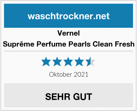 Vernel Suprême Perfume Pearls Clean Fresh Test