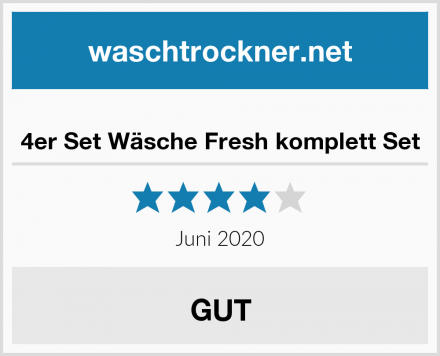 4er Set Wäsche Fresh komplett Set Test