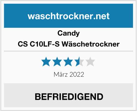 Candy CS C10LF-S Wäschetrockner Test