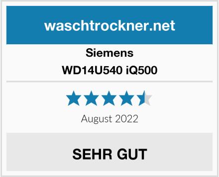 Siemens WD14U540 iQ500 Test