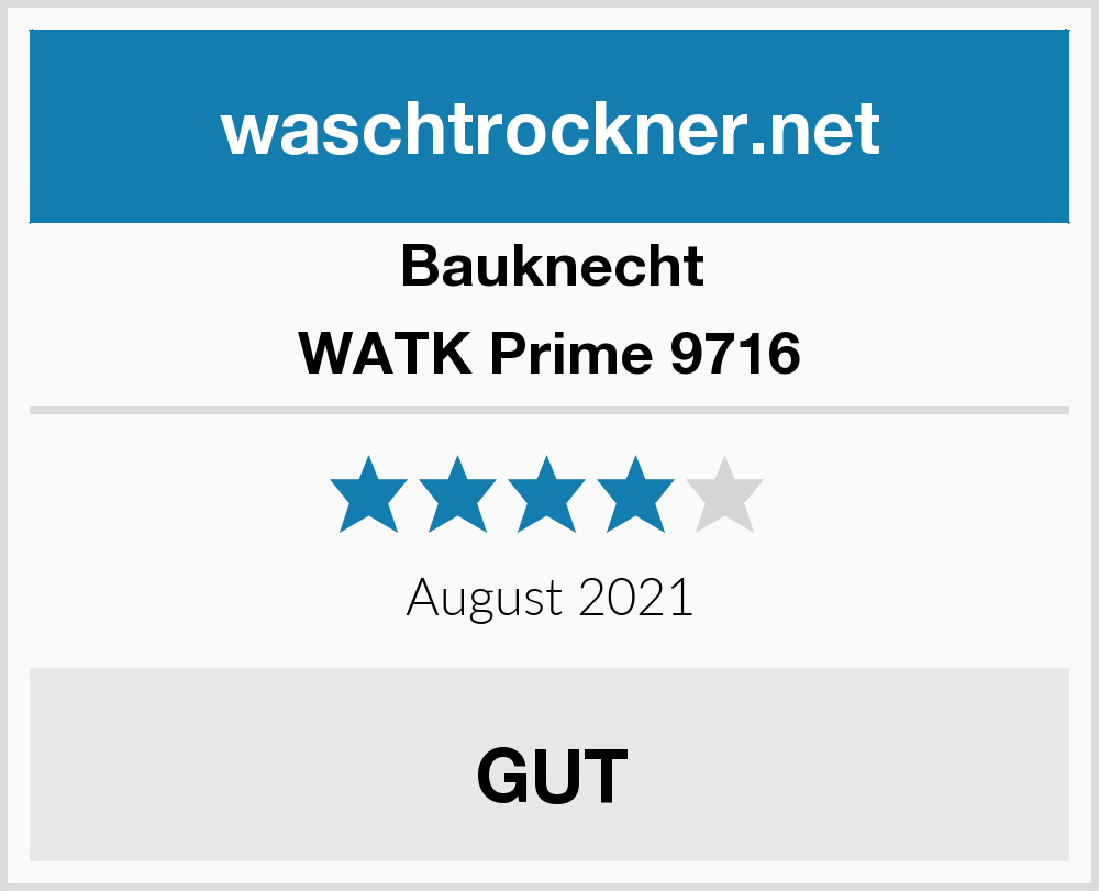 Bauknecht Watk Prime 9716 Waschtrockner Test 2019