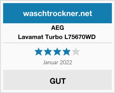 AEG Lavamat Turbo L75670WD  Test