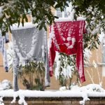 Wäsche trocknen im Winter
